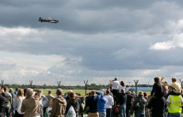 Lancaster flies past the Park