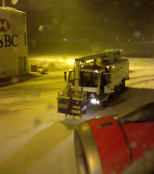 A SNOWTAM is used for notifications of runway/taxiway/apron status with respect to snow, ice, and standing water.