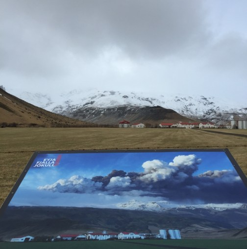 Eyjafjallajökull then and now. Photo taken by Airspace Systems Engineer Ben Swarbrick while visiting Iceland in March.