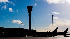 Heathrow against blue skies