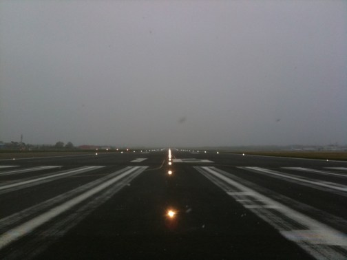 An empty runway at Aberdeen Airport. Photo by air traffic controller, Paul Collier