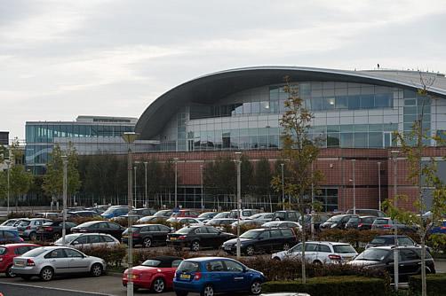 The car park at our Prestwick Centre