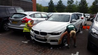 NATS staff cleaned cars for the Canterbury Oast Trust
