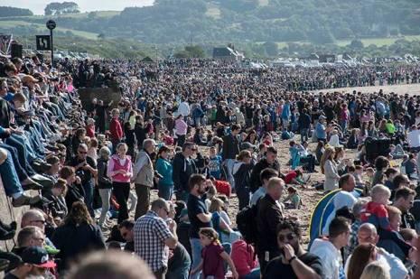 Crowds at Scottish Airshow 2015