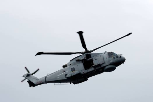 Royal Navy Helicopter at Scottish Airshow, 2015