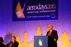 Mark Watson talking about the successful trial of RPAS in civilian airspace through Project CLAIRE at Aerodays2015.