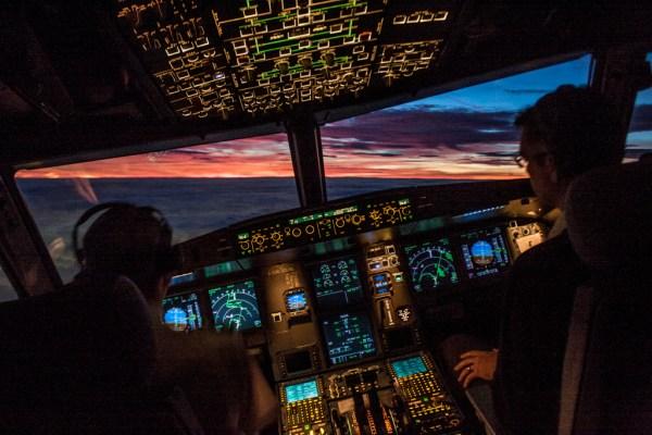 BA pilot cockpit
