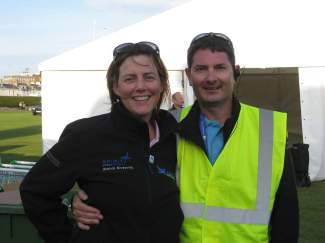 Family affair: Bob Alexander and his wife Livia (Scottish Airshow Volunteer Manager)