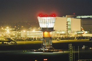 Moving the new tower into place in 2004