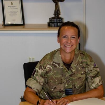 Wing Commander Chrissie Miller