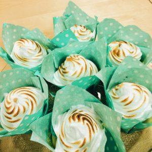 Citronmaräng cupcake