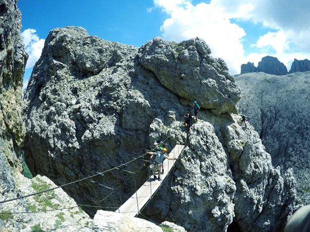 For some adventure climb a Via Ferrata in the Dolomites // Nattie on the Road