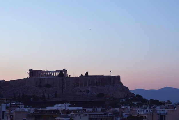 Sunset over the Parthenon // Nattie on the Road