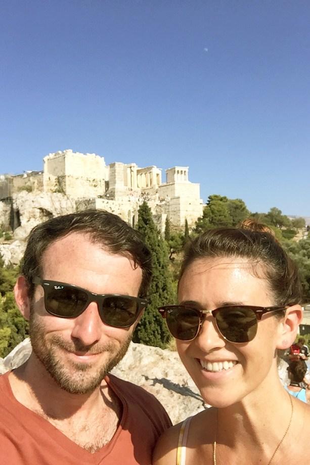 Acropolis selfie // Nattie on the Road
