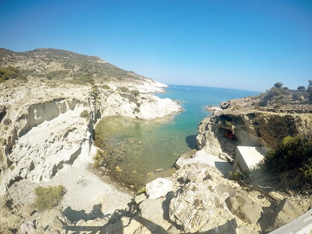 A beach with no name, Milos Greece // Nattie on the Road