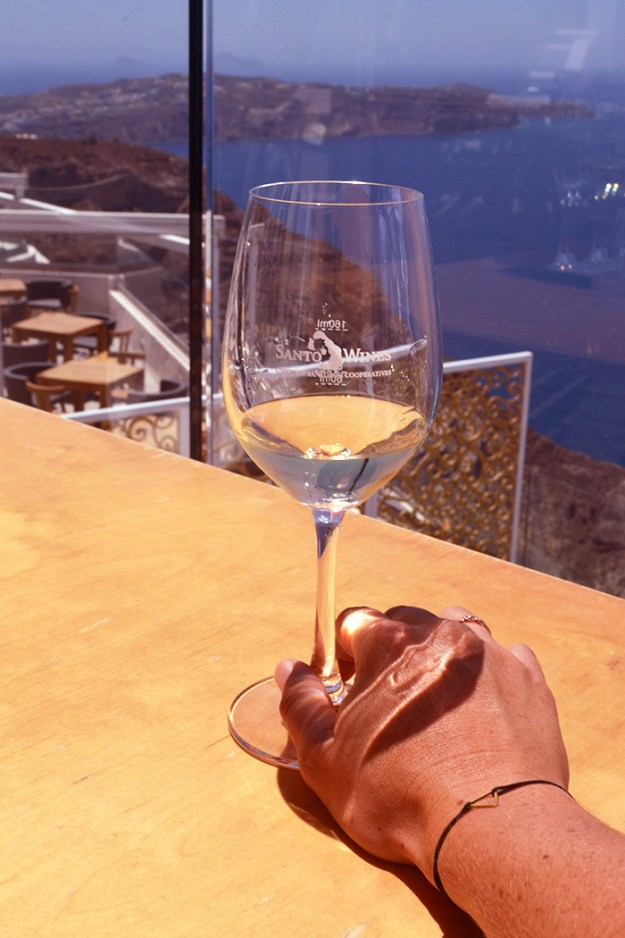 Trying the whites at Santo Wines in Santorini // Nattie on the Road