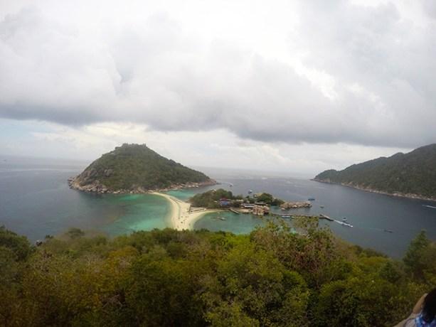 Views of Koh Nang Yuan and Koh Tao