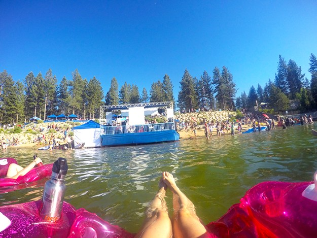 Floating in Lake Tahoe