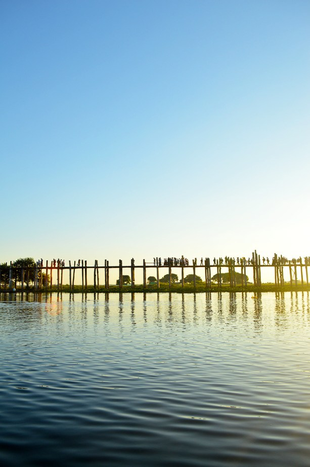 U Bein Bridge outside of Mandalay Myanmar