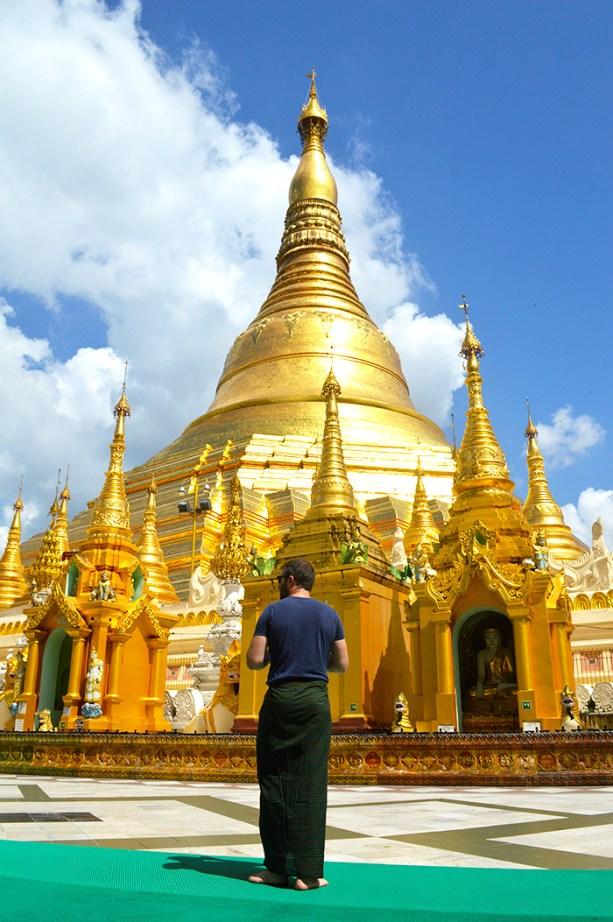 Beautiful gold Shwedagon Pagoda