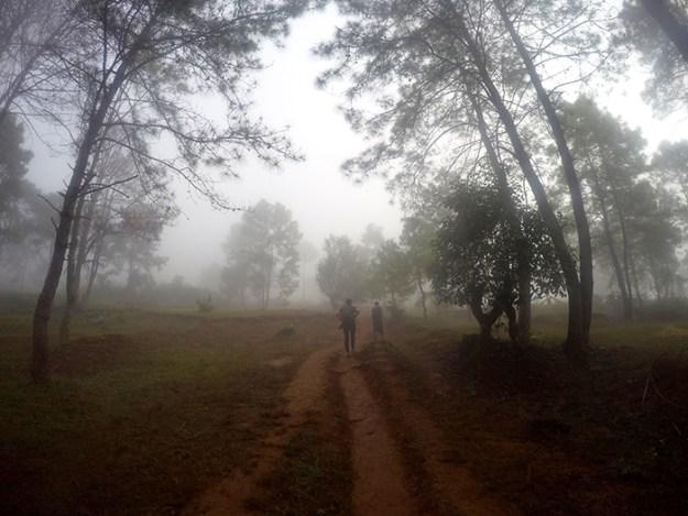 trekking through rural Myanmar