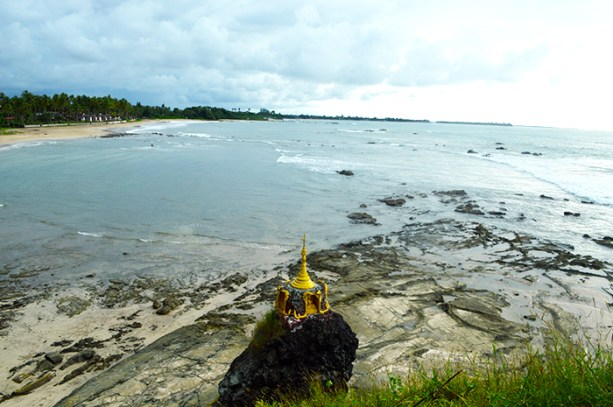 Beach side pagoda