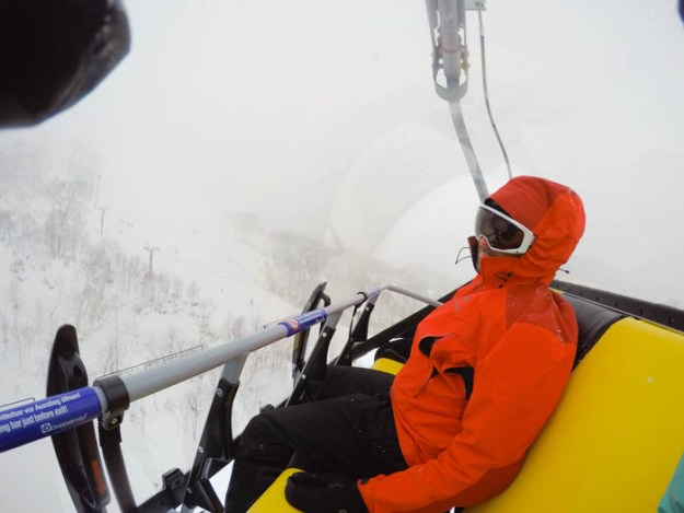 Covered ski lifts at Annupuri Niseko