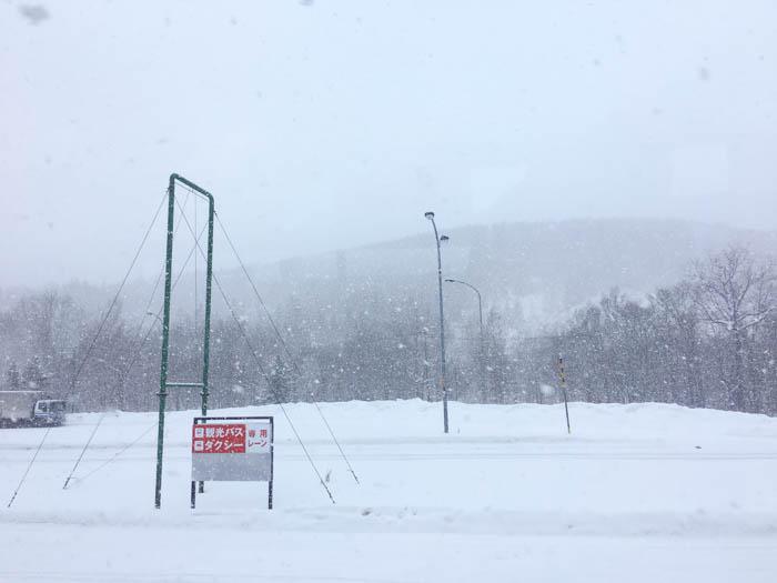Snow Storms In Hokkaido Japan