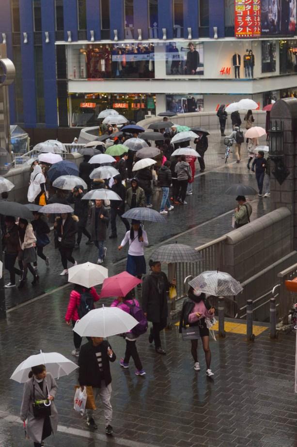 rainy day in Osaka