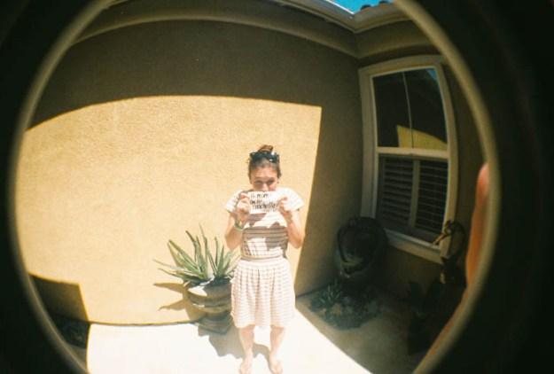 wearing a dress, first year at Coachella