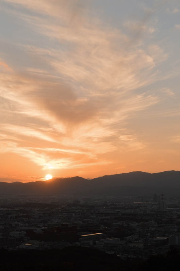 Kyoto at sunset