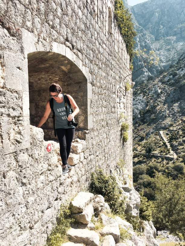 Hiking the city walls of Kotor