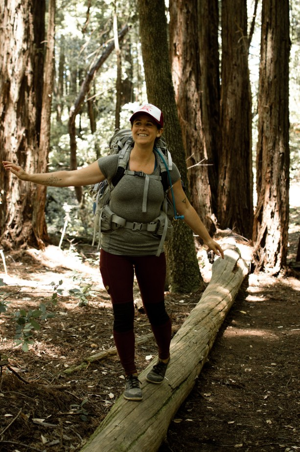 backpacking in the redwoods