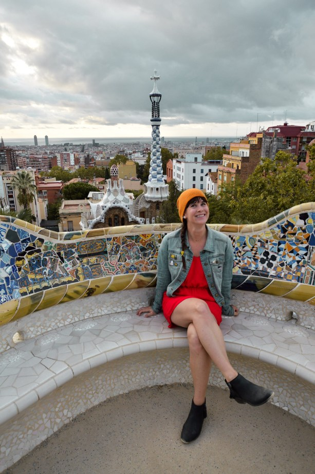 Park Guell's classic view