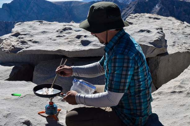 breakfast on Mount Whitney