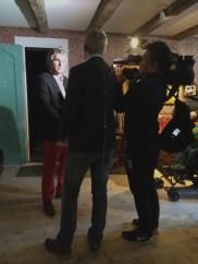 Roger Iversen ble intervjuet av TV2. (Foto: May Lis Ruus)