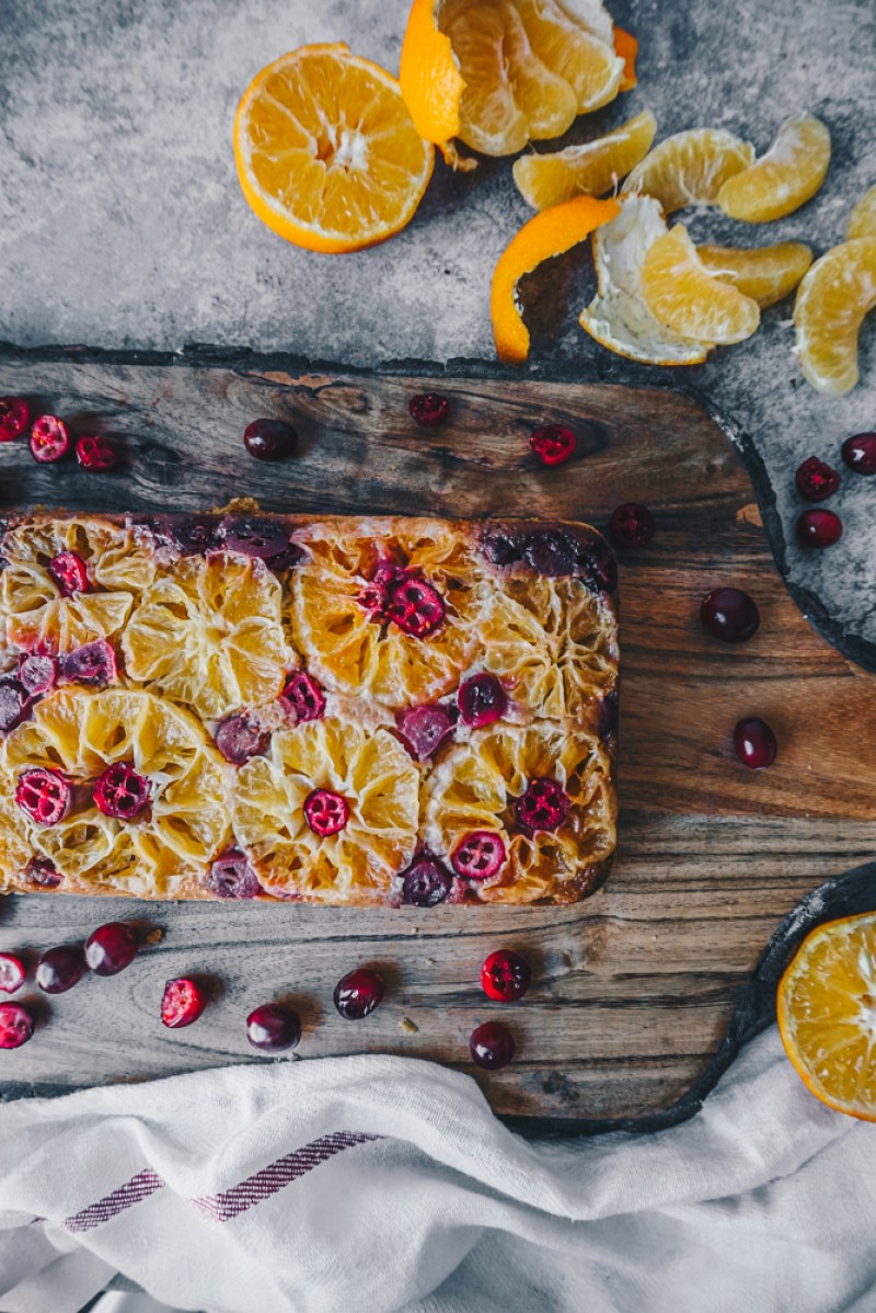Cranberry Mandarin Upside Down bread (Gluten Free) cranberries