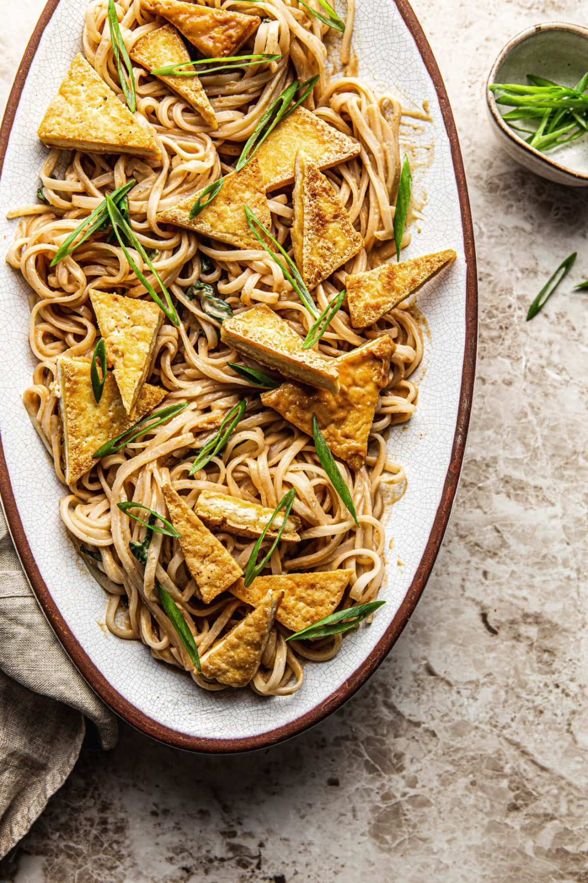 easy thai peanut noodles with crispy tofu  natteats