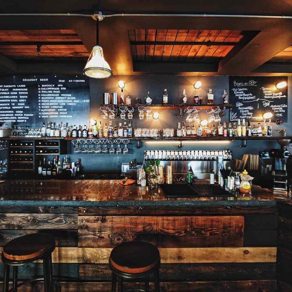 brown decor pub