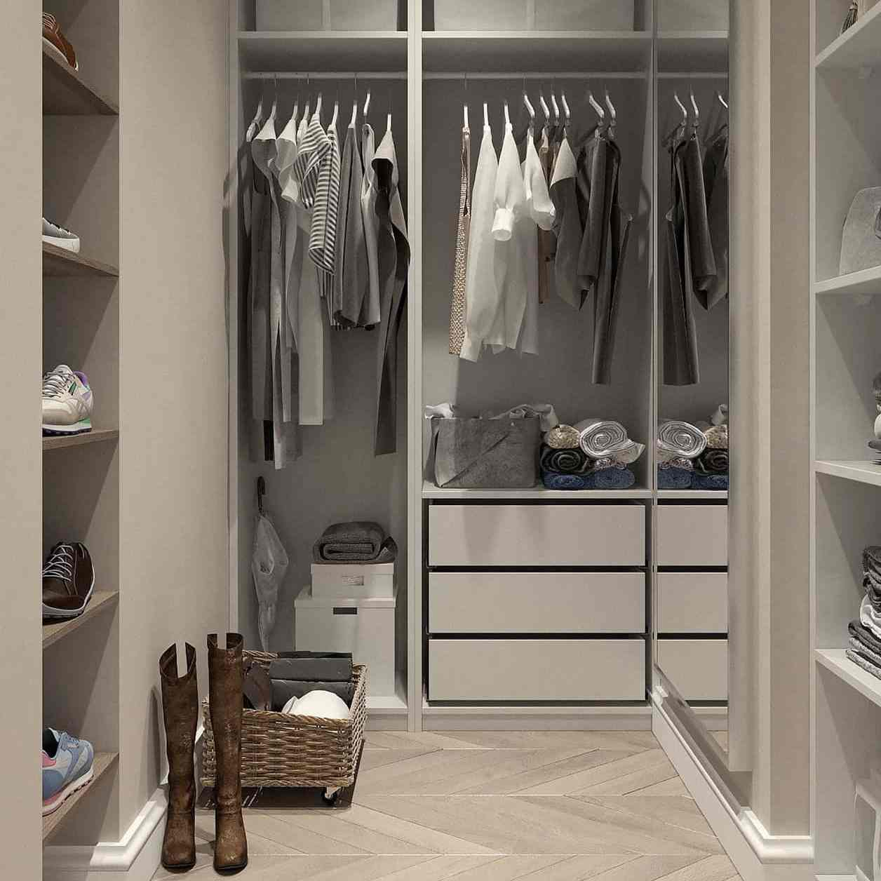 a wardrobe area in retail store