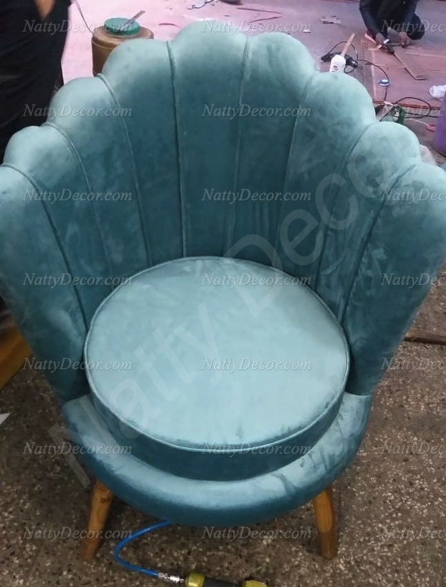 peacock style chair green