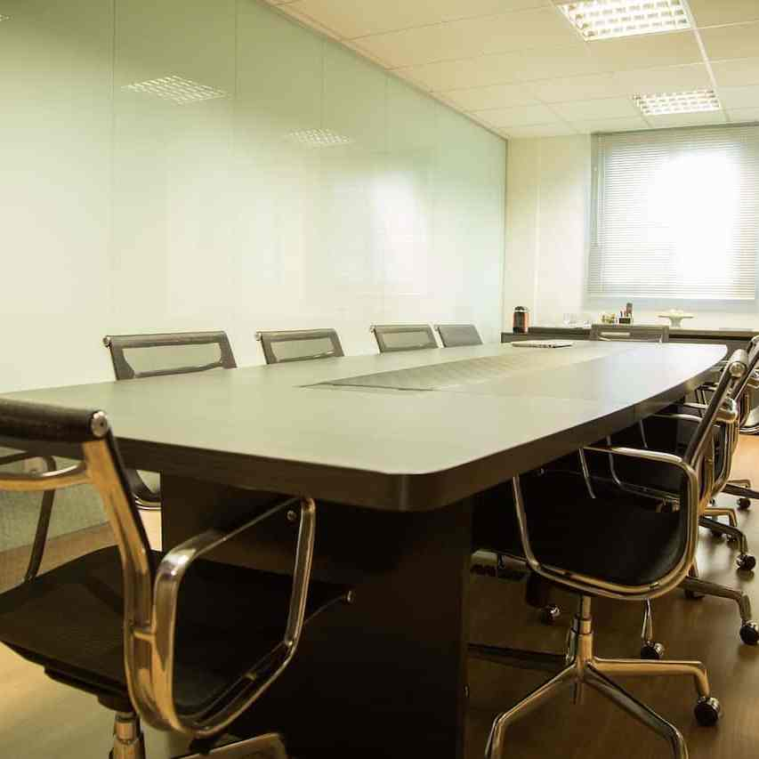 meeting room with ergonomic chairs