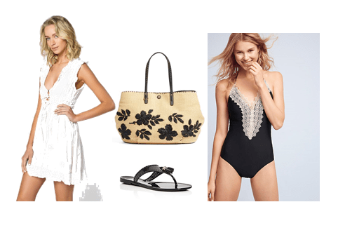 Swimwear Look 1: Romantic/Feminine