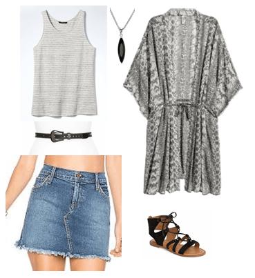 kimono, trend, festival, boho, ootd
