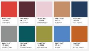 Pantone Fall 2017 Color Palette