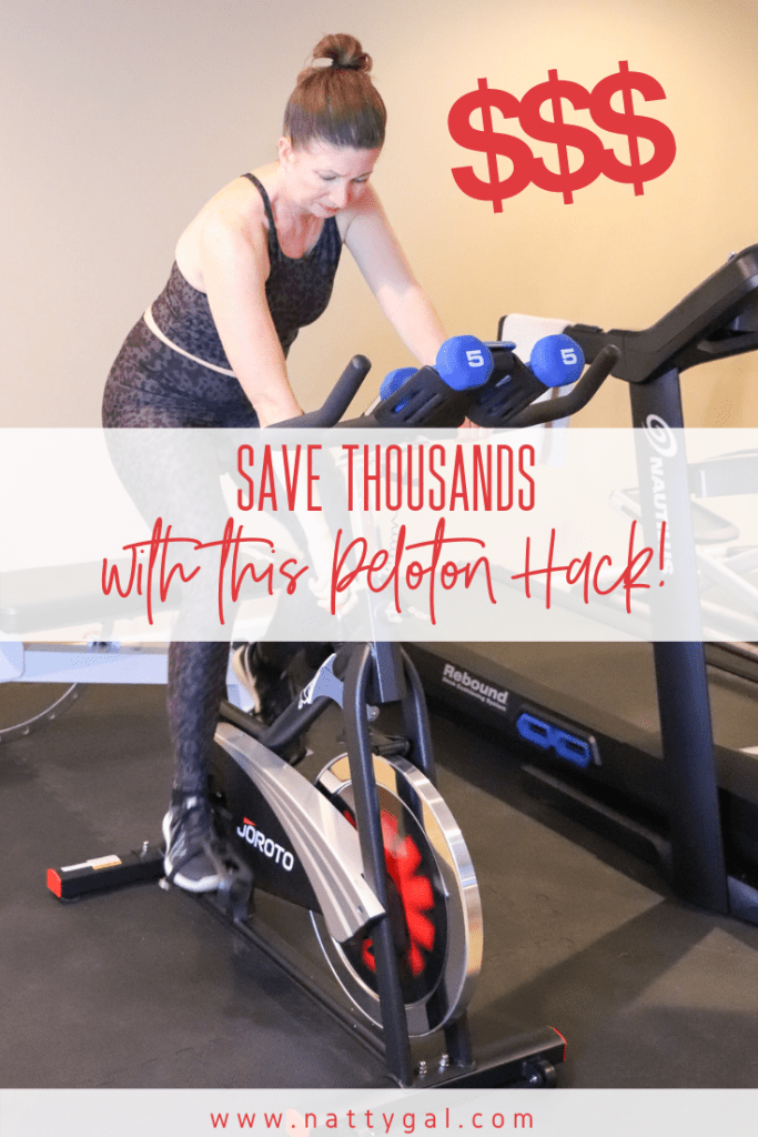 Peloton-curious? Don't pony up just yet!  Today I'm sharing how to save $1,000's with a Peloton hack that gives a near identical experience!