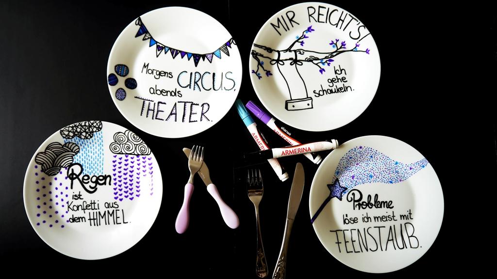 DIY Porzellan bemalen | Eine tolle Geschenkidee