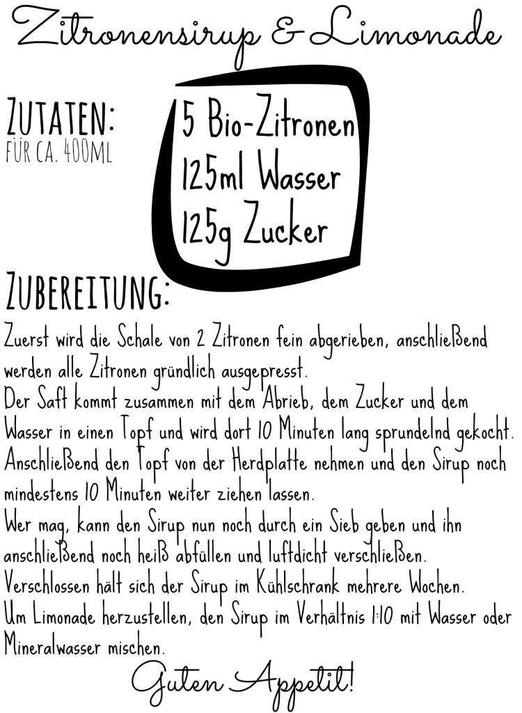 Zitronensirup Rezept