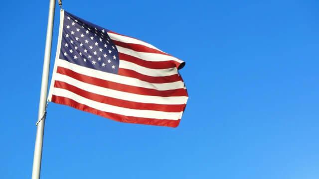 アメリカ合衆国の国旗の写真