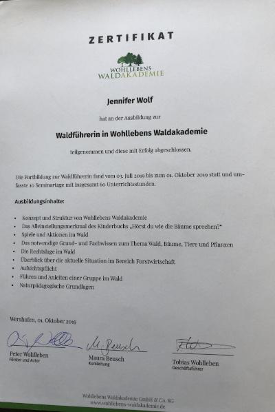 72dpi_Zertifikat Waldführerin in Wohllebens Waldakademie